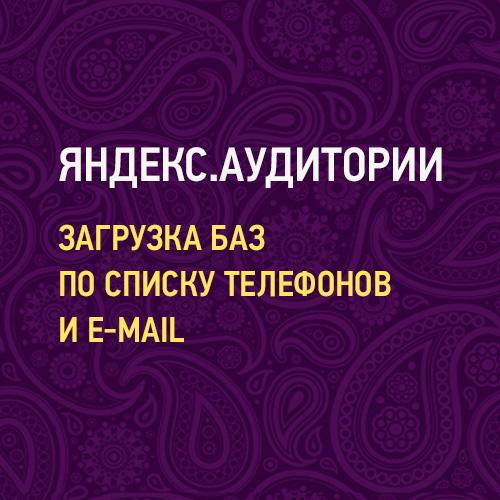 Яндекс.Аудитории - загрузка баз по списку телефонов и e-mail